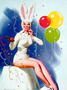 Easter Bunny Pin-up