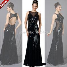 2014 Choiyes Bling Beading O-Neck Sleeveless Floor-Length Straight Prom Dresses $386.95