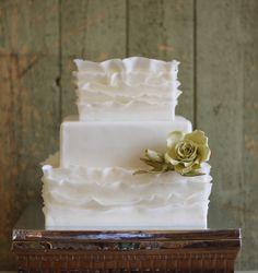 Gorgeous Ruffle Cake Via @couturecakery