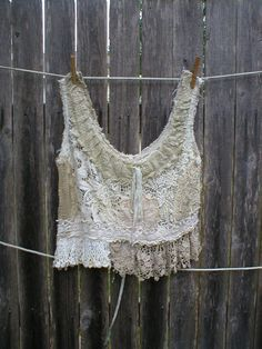Magnolia Pearl Fabulous Vintage Crochet Tank Top. This piece made in the USA unlike many of her newer items that are being made in India!
