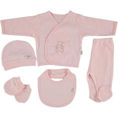 Organic newborn pink set, baby girl gift