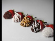 Chocolate Dipped Strawberry Tutorial, Miniature Food Jewelry Tutorial