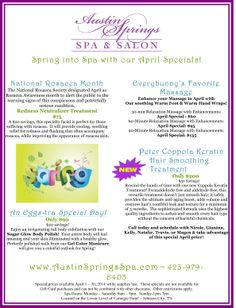 Hop on in the spa for our April specials! Salon Promotions, Spa Specials, Special Massage, Small Business Plan, Diy Body Scrub, Post Quotes, Salon Services, Promotional Events, Spa Treatments