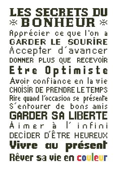"Affiche ""Les secrets du bonheur"" Positive Attitude, Positive Quotes, Miracle Morning, Quote Citation, Important Facts, Le Point, Best Memories, Quote Of The Day, The Secret"