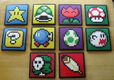 Mario Coaster Sprite Set of 10 van DelightfulEpiphany op Etsy, $40.00
