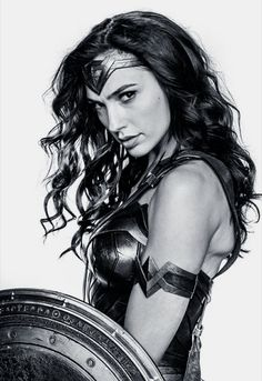 Gal Gadot as Wonder Woman Wonder Woman Drawing, Wonder Woman Art, Gal Gadot Wonder Woman, Wonder Woman Movie, Wonder Woman Cosplay, Gal Gabot, Wander Woman, Female Profile, Comic Movies