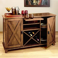 We need a wine bar/mini bar. This might be a little large but I like it. $199 (on sale) from World Market