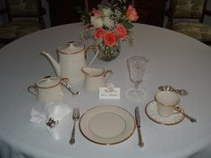 Miss Janice: Tea With Miss Janice, Post #11... setting table for tea time