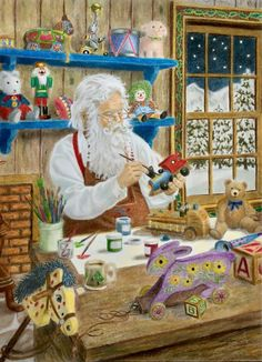 Ruth Sanderson, Santa's christmas, prismacolors