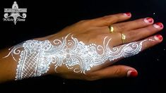 Tutorial white henna simple by Zahrina Henna Henna Style, White Henna, Wedding Mehndi, Mehndi Designs, Tattoos, Simple, Fashion Design, Tatuajes, Tattoo