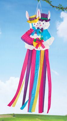 Easter Bunny Spring Hanging Windsock