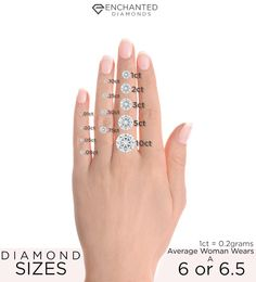 What is the average diamond size and carat weight of a diamond in ...