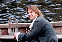 Sean Bean on the River Ouse in York - filming Robinson Crusoe in 2008  too…