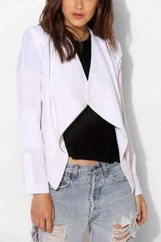 Draped + Embellished Blazer. #must #jacket #draped