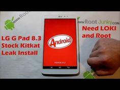 LG G Pad 8.3 Stock KitKat Leak install