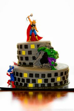 Avengers Cake // by dcimageforge (Danny Collado), via Flickr