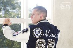 Senior Shoot with Letterman Jacket  Photo By www.crookedphotography.com