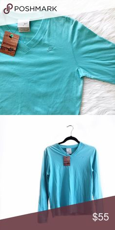 • Nike • Tiffany Blue Top Gorgeous Tiffany blue Nike top! Stunning, unique color. Nike Tops Tees - Long Sleeve