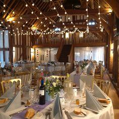A lovely 12 string festoon canopy in warm white on white cable.  #wedding #summerwedding #eventprof # barnwedding #festoonlighting #barnlighting #buckinghamshire  https://www.facebook.com/The-Tudor-Barn-weddings-543685742383264/