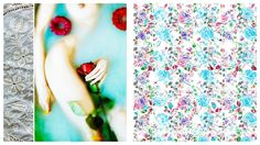 at the end we're just flowers by dress the chicken , via Behance