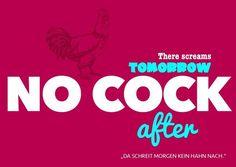 No cock | Denglisch | Echte Postkarten online versenden | MyPostcard.com