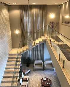 Modern stairs - Building a two-story home in among the contemporary designs, among the major questions to be addressed is Home Room Design, Staircase Decor, Railing Design, Staircase Design, Modern House Design, House Exterior, House Staircase, Modern Interior Design, House Interior Decor