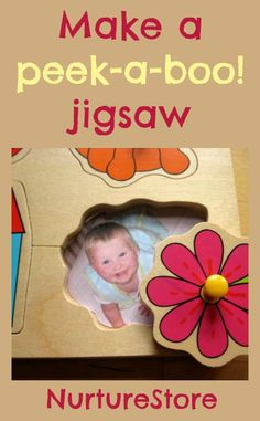 Transform an ordinary jigsaw into a special puzzle just for your baby with this idea for a hide and seek personalised jigsaw puzzle