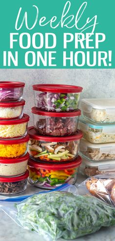 Meal prep doesn't need to take an entire weekend. Learn how to food prep in just 1 hour with this time-saving method, it's a game changer! #freemealplan #foodprep Chicken Scampi, Free Meal Plans, Chicken Stir Fry, Meal Prep Bowls, Meal Prep For The Week, Time Saving, Food Prep, Game Changer, Stuffed Green Peppers