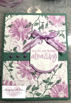 Happy Birthday Gorgeous, Color Contour, Stampin Up Catalog, Stamping Up, Rubber Stamping, Big Flowers, Diy Cards, Handmade Cards, Flower Cards