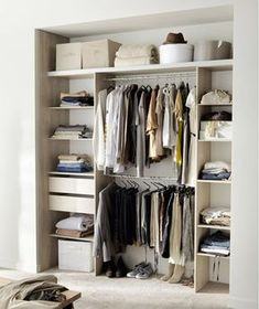- Wardrobe Organization - Dressing pas cher pour un rangement déco de la chambre A dressing room in the room, the must of comfort! Dressing custom, small wardrobe, extensible closet, the . Wardrobe Organisation, Diy Organisation, Small Wardrobe, Bedroom Wardrobe, Cheap Storage, Closet Storage, Dressing Leroy Merlin, Dressing Extensible, Dressing Pas Cher