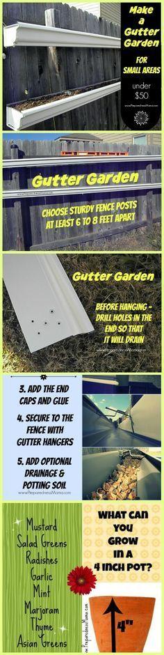How To Make A Rain Gutter Garden Gutter Garden Gardens
