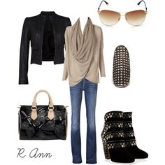 Black and gold, created by rachelann34 on Polyvore