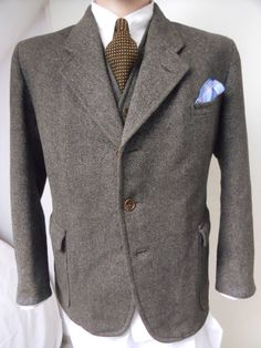 Orig. 1930's German Suit Tweed Jacket Breeches Trousers