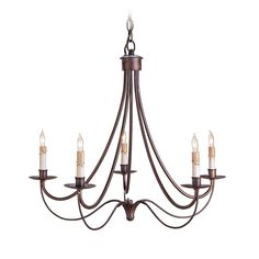 Currey and Company Lighting Modern Chandelier in Hand Rubbed Bronze Finish 9540