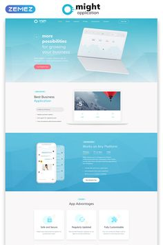 Might - Delicate Web Application HTML Landing Page Template Landing Page Html, Landing Page Examples, Best Landing Pages, Landing Page Design, Html Templates, Page Template, Website Design Inspiration, One Pager Design, Web Design Quotes