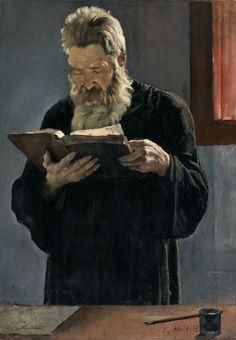 Ferdinand Hodler - Reading priest