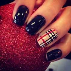 Burberry nail art...I HAVE to bit this, sorry!