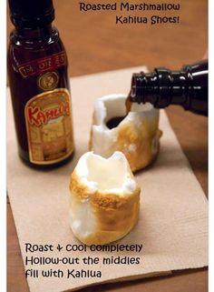 Roasted marshmallow shots!!