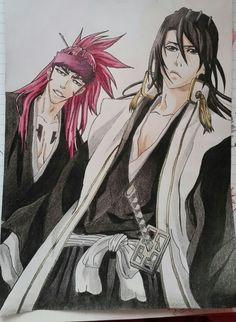 Anime/manga: Bleach [Abarai Renji x Kuchiki Byakuya] Paper Drawing, Death Note, Tokyo Ghoul, Bleach, Naruto, My Arts, Manga, Anime, Manga Anime