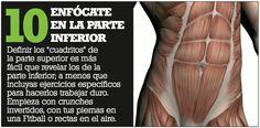 cuando trabajes el abdomen concentrate en la parte inferior