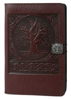 Leather Kindle Covers and Cases | World Tree | Oberon Design