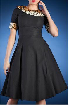 Blondi Dress Semi Swing (Black) - Catfight Collections