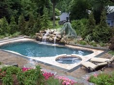 Image result for RECTANGLE SWIMMING POOLS WITH SPA