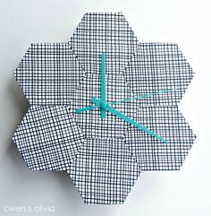 owen's olivia: Fat Quarter Hexagon Clock || Tutorial