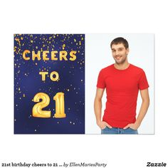 Shop Photo birthday cheers gold balloon text blue invitation created by EllenMariesParty. Personalize it with photos & text or purchase as is! Teacher Birthday Gifts, Birthday Presents For Her, Birthday Cheers, 30th Birthday Parties, Funny Birthday Cards, 21 Balloons, Gold Letter Balloons, Birthday Quotes For Daughter, 30th Birthday Invitations