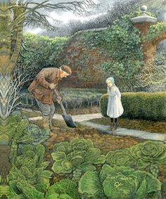 The Secret Garden - illus. by Inga Moore. My favorite book of all-time (though my favorite illustrations are by Tasha Tudor). :)
