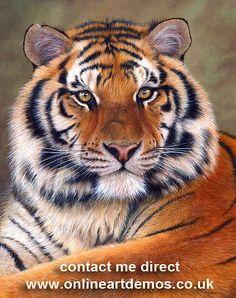 Siberian Tiger Print Onlineartdemos.co.uk Painting by Jason Morgan