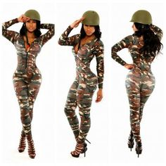 CAMOUFLAGE PRINTING BODYCON LONG CELEBRITY BANDAGE JUMPSUIT WINTER NEW WOMEN FASHION SEXY PARTY CLUB ROMPERS