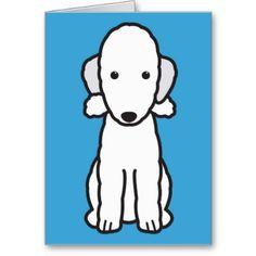 Bedlington Terrier Dog Breed Cartoon Greeting Card from Zazzle.com