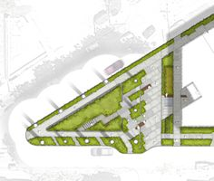 McGilvra Place Park, adjacent to the Bullitt Center, is slated to become the… Social Housing Architecture, Landscape Architecture Design, Sustainable Architecture, Architecture Plan, Sustainable Design, Landscape Plane, Landscape Concept, Urban Landscape, Parking Plan